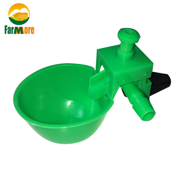 50 Sets Green Chicken Waterer Automatic Drinking Bowls  for Chicken Coop Quail Poultry Chicken Fowl Drinker Farm Drinking cups 50 sets chicken quail waterer poultry drinker cups 13 5mm pipe automatic bird coop feeder poultry chicken fowl drinker waterers
