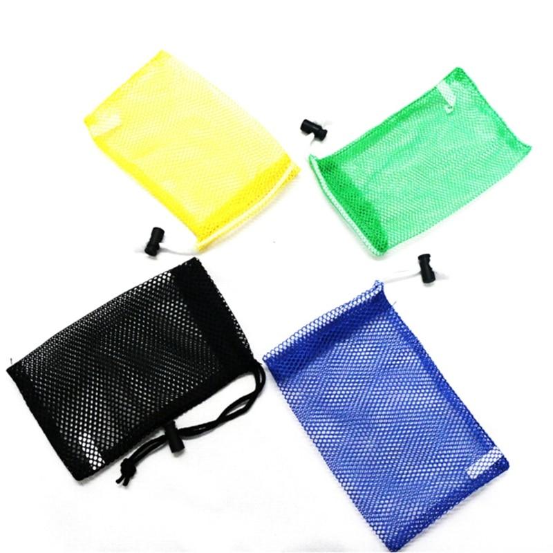 Outdoor Sport Nylon Mesh Bag Pouch Golf Tennis Balls Holder Golf Balls Storage Clasp Training Aid Bag