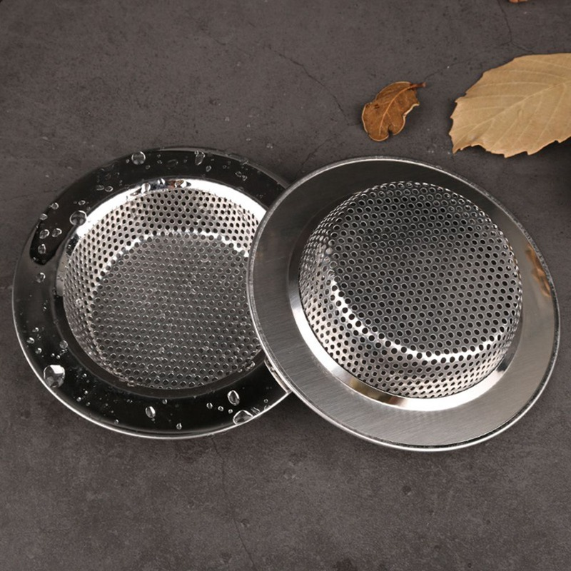 Kitchen Sink Filter Drain Hole Filter Increase Thickening Edge Tank Filter Stainless Steel Sewer Floor Drain Cover Sink Filter
