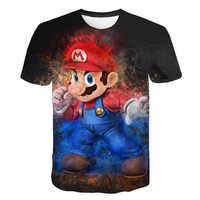 2019 verano nuevo Harajuku estilo clásico juegos Super Mario camiseta Mario Bros 3D imprimir hip hop camisetas camiseta