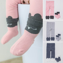 Cute Newborn Baby Tights Creative Stitching Baby Girl Boy Tights Cotton Winter Knitted Warm Infant Toddler Pantyhose Stockings(China)