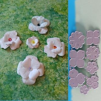 Novedad, 8 piezas, flor primavera, folha de corte metal, Dades, esteste, sucat,...