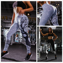 High waist big tree print anti cellulite leggings plus size sport stretch push up leggings fitness woman sexy clothing(China)