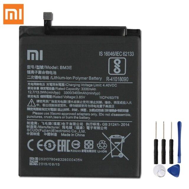 Originale XIAOMI BM3E Batteria di Ricambio Per Xiaomi 8 MI8 M8 MI 8 Autentico 3400mAh Batteria Del Telefono