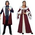 Средневековый европейский император Королева Костюм Хэллоуин Маскарад косплей униформа