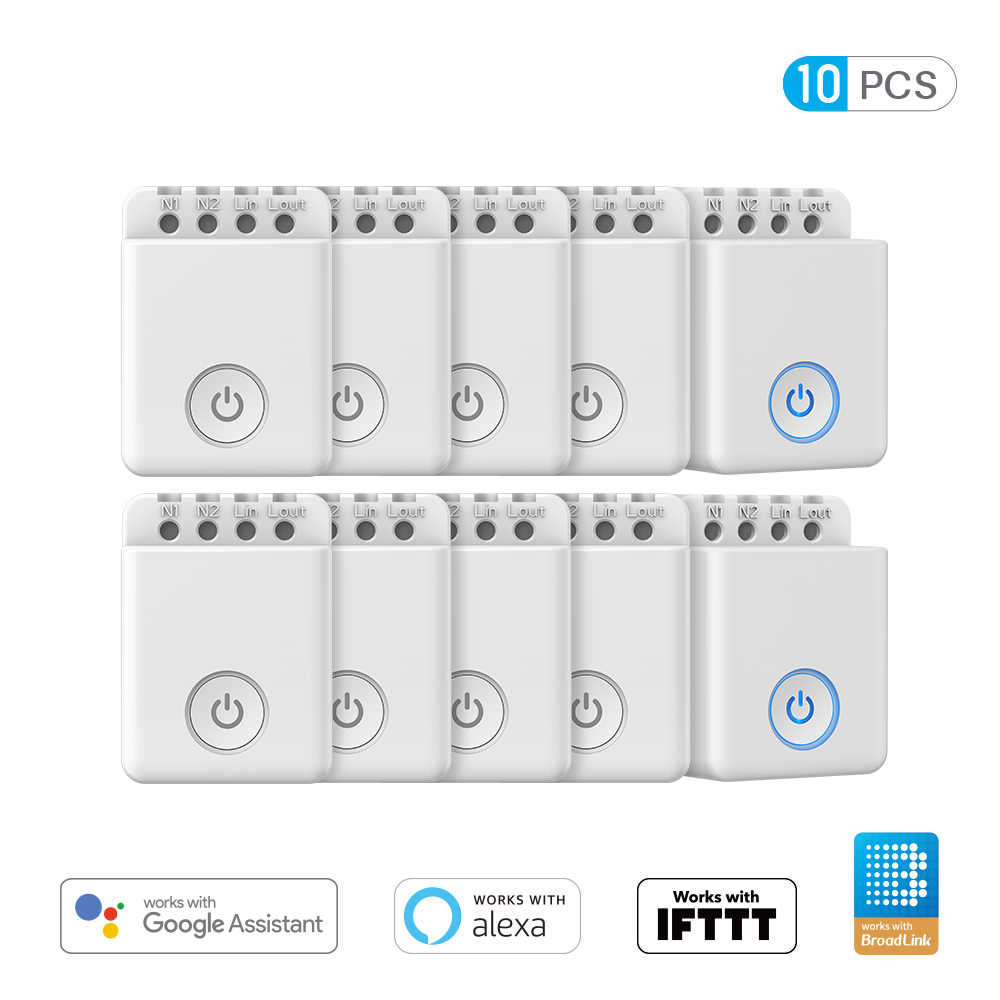 Broadlink Bestcon MCB1 Wifi Controller Switch Smart Home Automation Wireless Remote Switch dengan Ios Android 1/2/3/4/5/6/8/10-Pack