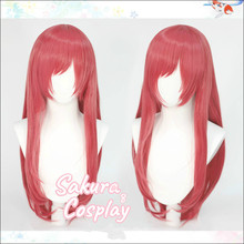 Принцесса соединение Re:Dive Hasekura Io косплей розовый длинные прямые термостойкие синтетические волосы Хэллоуин Карнавал + бесплатная шапочка д...