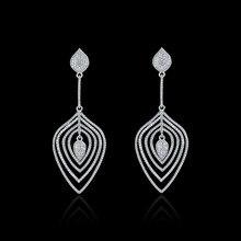 NJ Fashion Vintage Multi Layer Earrings For Women Jewelry Shiny Tassel Earring Long Drop Dangle