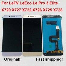 Orijinal AAA LCD LeTV Le Pro 3 LeEco ekran dokunmatik ekran için LeTV LeEco Le Pro 3 LCD Le pro3 Elite ekran X720 X727 X722