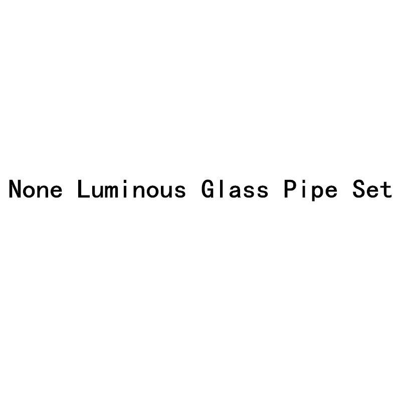 None Luminous Glass Pipe Set Borosilicate Colorful No Luminous Pipe Percolator