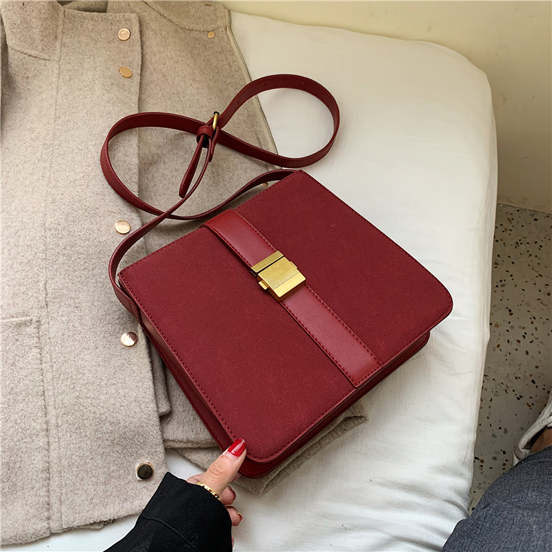 Bags for Women 2019 Autumn Simple Fashion New Small Square Bag Retro Crossbody Bag Women Frosted Leather Shoulder Messenger Bag