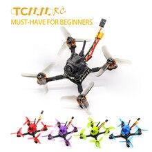 Tcmrc – drone fpv arc-en-ciel de course, 2.5 pouces, moteur 1104, 8600kv, en fibre de carbone, haute poussée, caméra 1200TVL