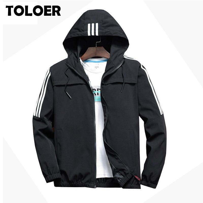 Мужская повседневная полосатая куртка бомбер, Мужская трендовая толстовка с капюшоном 2020, Бейсбольный воротник, уличная куртка, Мужская модная ветровка, куртки Куртки      АлиЭкспресс