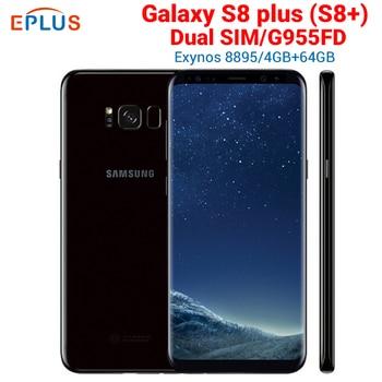 Перейти на Алиэкспресс и купить Совершенно новая глобальная версия 4 Гб 64 Гб samsung Galaxy S8 plus S8 + G955FD мобильный телефон с двумя sim-картами 6,2 дюймNFC 4G LTE Android смартфон
