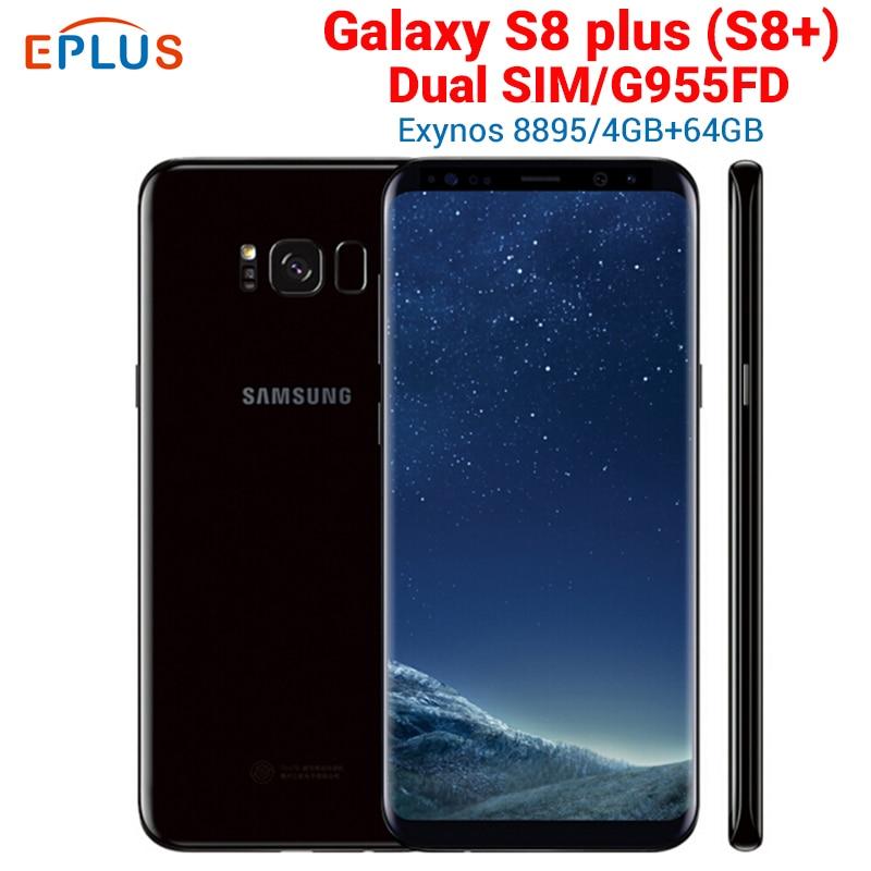 Marca nueva versión Global 4GB 64GB Samsung Galaxy S8 más S8 + G955FD teléfono móvil con doble SIM 6,2