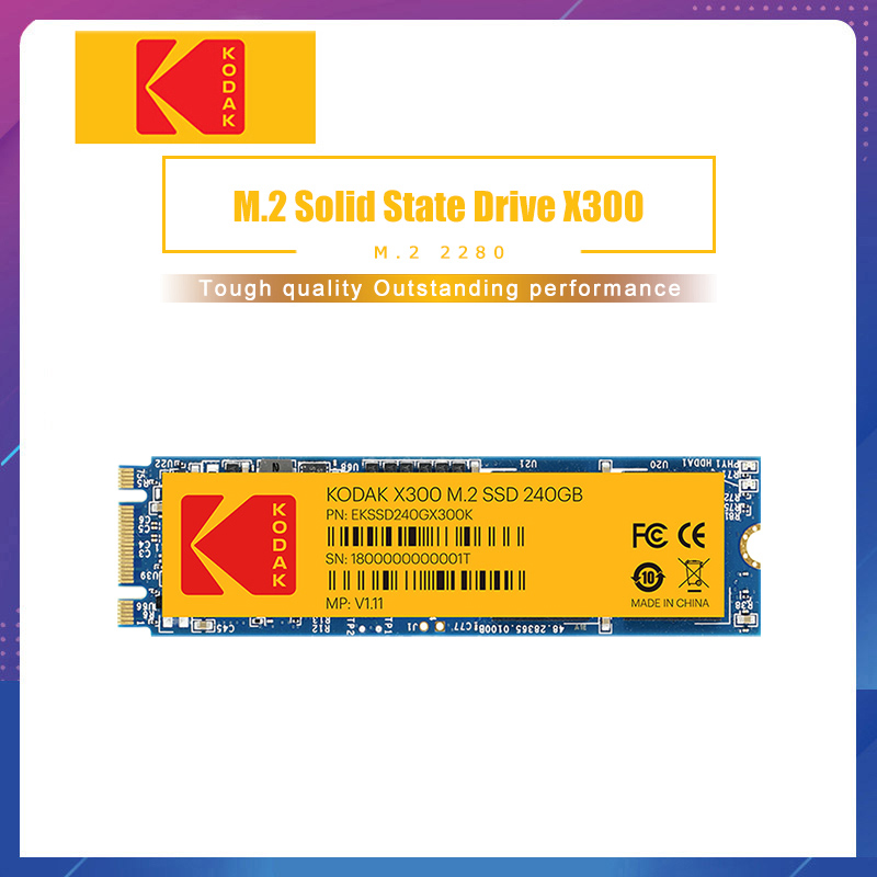 Kodak X300 <font><b>SSD</b></font> M.2 PCIE <font><b>SSD</b></font> <font><b>M2</b></font> 120GB <font><b>NVME</b></font> <font><b>2280</b></font> 128GB 256GB 512GB 1TB Internal disk 240GB Solid State Drive for laptop netbook image