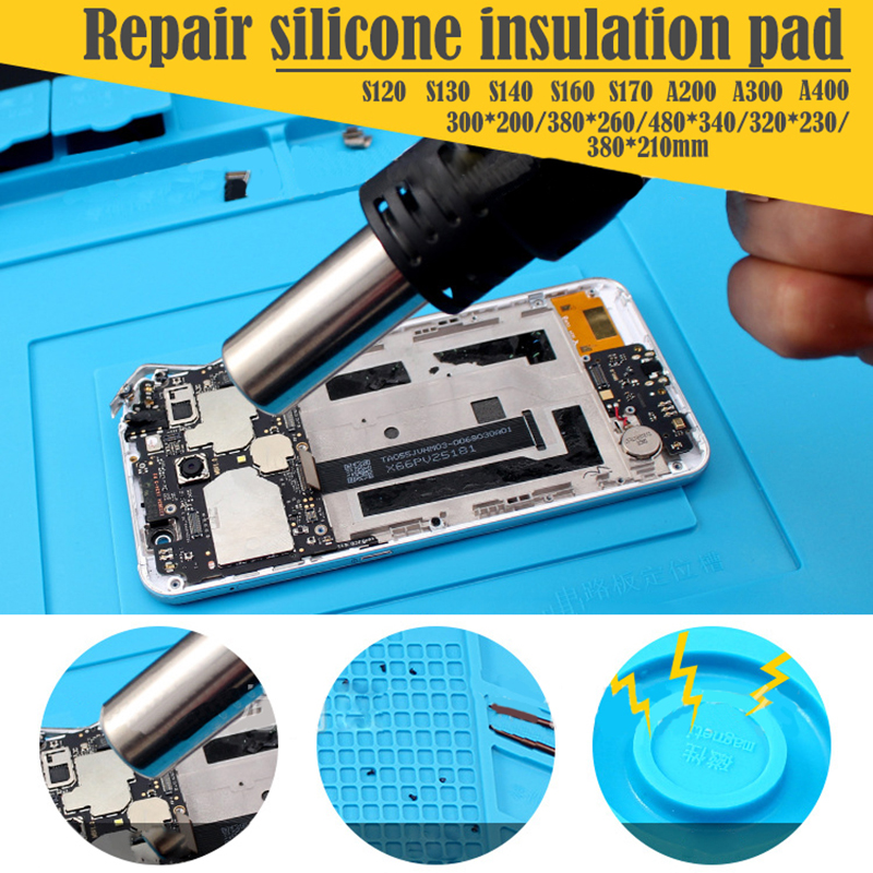 New 300*200mm Insulation Pad Heat-Resistant Silicon Soldering Mat Work Pad Desk Platform Solder Rework Repair Tool Station