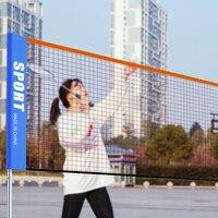 Rede de peteca líquida quadrada do badminton do tênis da malha do quadrado do treinamento profissional da rede do badminton do padrão portátil de 3 6 m|null|   -