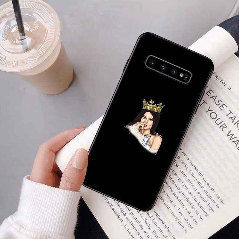 ערבית חיג 'אב ילדה מלכת כתר סיליקון טלפון מקרה עבור סמסונג S9 בתוספת S5 S6 קצה בתוספת S7 קצה S8 בתוספת s10 E S10 בתוספת