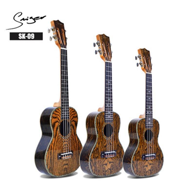 21/23/26 pouces bois massif 4 cordes ukulélé Top épicéa motif papillon Mini guitare haute qualité ukulélé UK2360