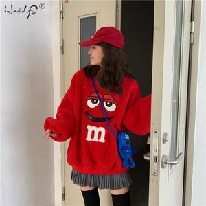 Image 3 - Women Fashion Hoodie Pullover Coats Warm Fleece Fur Streetwear Coat Plush Tops Loose Coat Female Casual Autumn Coat Outerwear