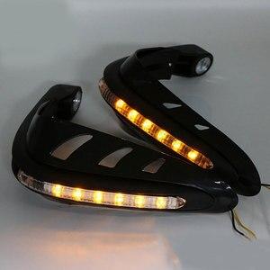 Image 3 - 2 adet motosiklet motosiklet gidon el muhafızları koruyucu güvenlik LED ışık motosiklet aksesuarları