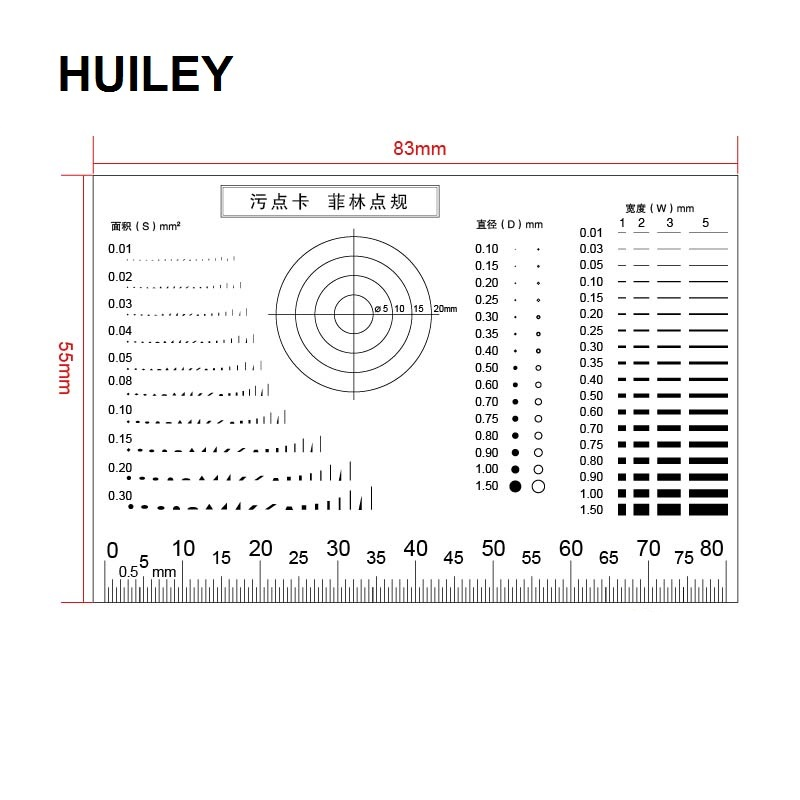 Gauge Point Gauge Transparent Film Stain Card Comparison Card Stain Crack Contrast PET Dot Line Surface Quality Inspection