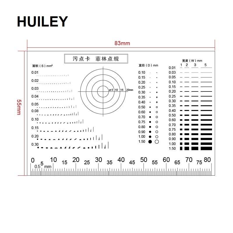 Gauge Point Gauge Transparent Film Stain Card Comparison Card Stain Crack Contrast PET Dot Line Surface Quality Inspection