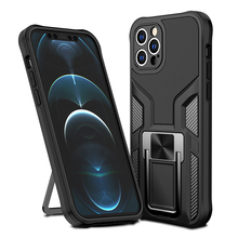 حافظة واقية من الصدمات العسكرية لهواتف آيفون 12Pro 12 Mini 11 Pro Max XS Max XR X 7 8 Plus مع حامل حلقي