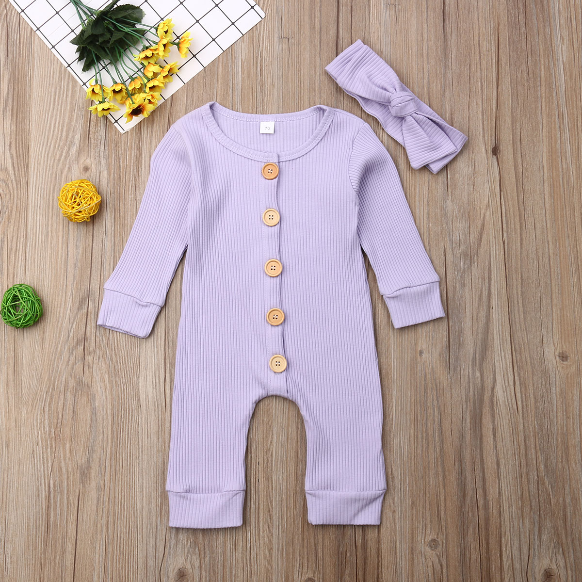 H1d2e8f2c4e154e1f9dbf2ced5e86850cr Spring Fall Newborn Baby Girl Boy Clothes Long Sleeve Knitted Romper + Headband Jumpsuit 2PCS Outfit 0-24M