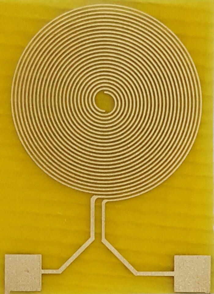 100micron Flexible Interdigital Gold Electrode IDE Polyimide PI Scientific Research Humidity-sensitive Gas-sensitive Sensor Chip