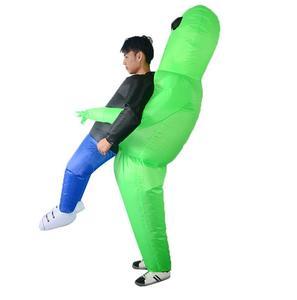 Image 4 - Et alien nadmuchiwany kostium potwora straszny zielony obcy przebranie na karnawał dla dorosłych impreza z okazji Halloween Festival Stage