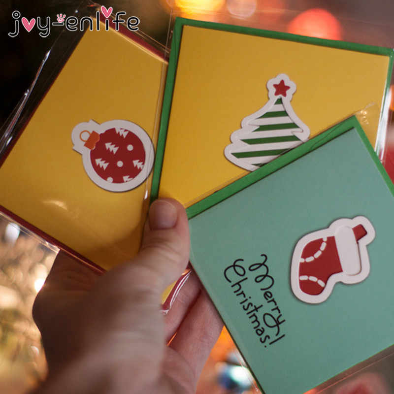 Small Christmas Cards 2020 12pcs Merry Christmas Mini Greeting Cards Kids New year Gift Cards