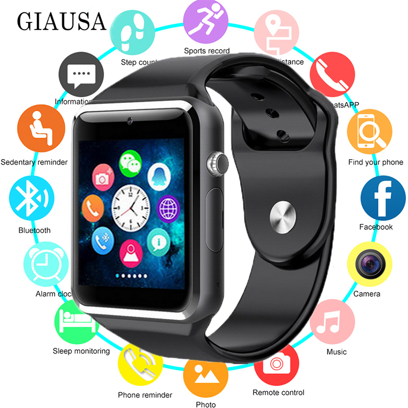 NEW Smart Watch Smartwatch Bluetooth Wrist Sport Watch SIM TF Phone Camera WristWatch for Apple IPhone Android Samsung Men Watch in Smart Watches from Consumer Electronics