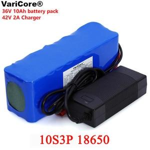 Image 1 - VariCore 36V 10000mAh 500W גבוהה כוח 42V 18650 ליתיום סוללה אופנוע חשמלי רכב אופניים קטנוע עם BMS + 2A מטען