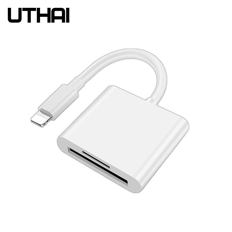 Uthai c57 para iphone multi leitor de cartão de relâmpago para sd tf leitores de cartão de memória suporte ios13 para iphone 6/7/8/x/xr/11