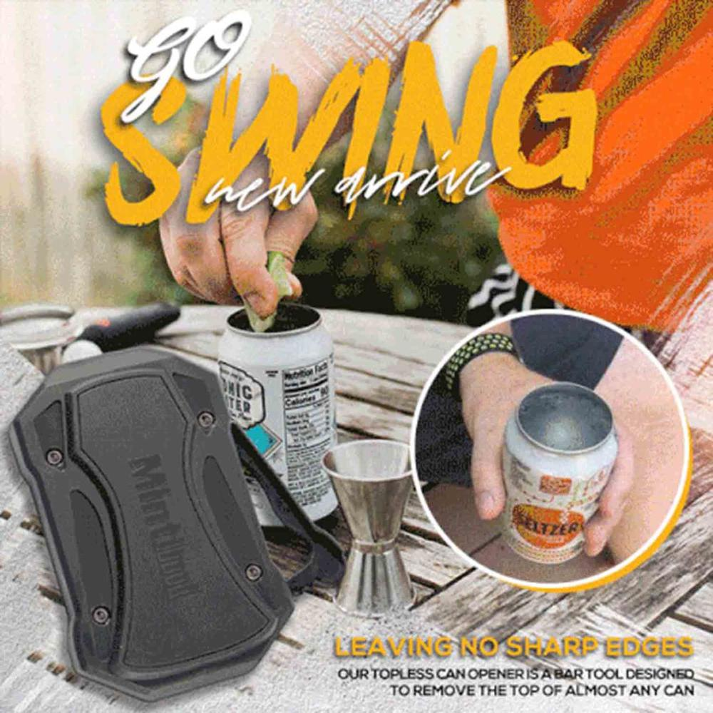 Go Swing Topless Can Opener Bar Tool Safety Manual Opener for Household Kitchen