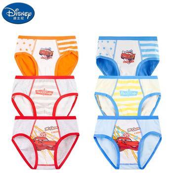Original Disney Cotton Small And Medium-sized Boys' Briefs Children #8217 s Cartoon Car Comfortable And Breathable 2 Packs tanie i dobre opinie Mężczyzna Na co dzień CN (pochodzenie) 3-6y 7-12y 12 + y Modalne baby Pasuje prawda na wymiar weź swój normalny rozmiar