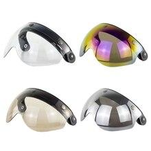 2021 neue W gläser 3 Snap 3/4 Helm Schild mit FLIP UP Scharnier für TORC T50 Vintage Moto