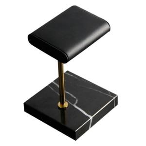 Мраморные Часы Браслет Дисплей Стенд черный искусственная кожа ювелирные изделия стенд часы стенд размещение ювелирных изделий стенд