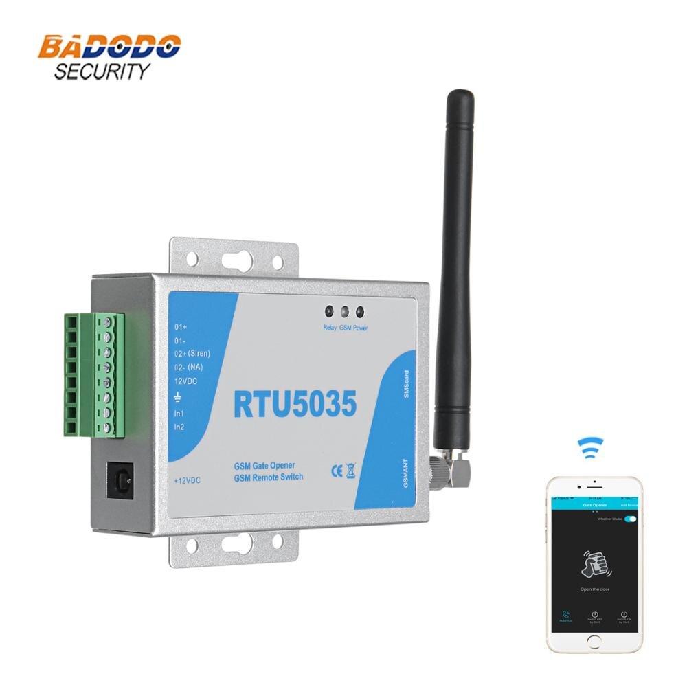 999 usuarios GSM SMS puerta abridor APP control remoto interruptor relé RTU5035 para abridor de puerta deslizante oscilante (reemplazar RTU5015 RTU5025)