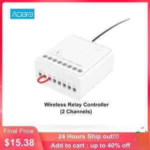 Aqara Control-Module Relay Homekit Smart-Setting Mi-Home-App Wireless Two-Way Timer