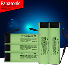 Panasonic – batterie Rechargeable au Lithium, 3.7 v, 3400mah, feuille de Nickel, à souder, nouvelle collection