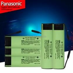 New Panasonic Original NCR18650B 3.7 v 3400mah 18650 Lithium Rechargeable Battery Welding Nickel Sheet batteries