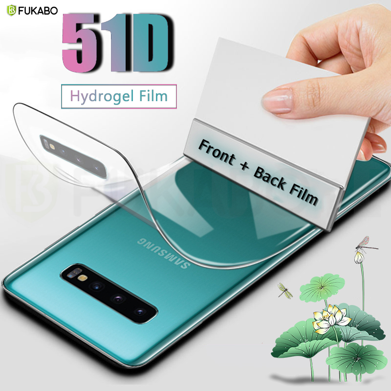 Full Cover Hydrogel Film For Samsung Galaxy A50 A51 A10 A20 A30 A70 A80 Screen Protector S10 S20 Plus Front Back Film Not Glass