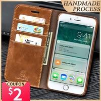Custodia Flip Musubo in vera pelle per iPhone 8 Plus 7 Plus custodia protettiva per portafoglio di lusso per iPhone X 6 6s SE 2020 custodie Coque capa