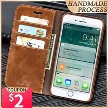 Musubo lüks deri iphone için kılıf Xs Max 7 artı cüzdan telefon çanta standı kapak iphone 8 6 artı 6s artı 5 5s 5s SE kılıfları coque
