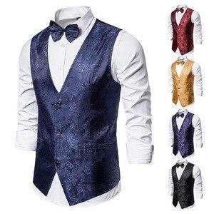 Image 3 - Banquet Wedding Waistcoat Party Waistcoat Bar Night Club Suit Men Waistcoat Bright Suit Paisley Waistcoat