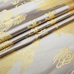 Dragon pattern brocade fabric silk satin fabrics material for DIY bags handwork