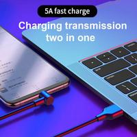 cable samsung 5A USB Type-C Charging Cable For Huawei Samsung Xiaomi Smart Phone Fast Charging Cable Intelligent Phone Elbow Data Line (3)